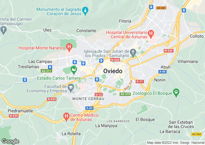 Map for Asturias, Oviedo, Oviedo