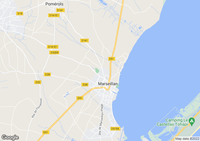 Map for Languedoc-Roussillon, Hérault, Marseillan