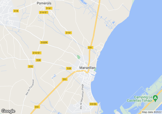 Map for Marseillan, Hérault, Languedoc-Roussillon