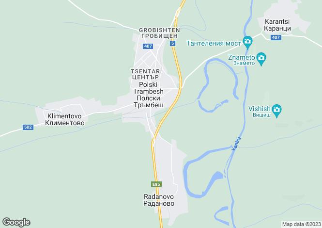 Map for Veliko Tarnovo, Radanovo