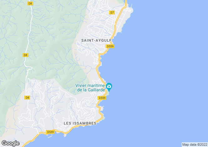 Map for LES ISSAMBRES, St Raphaël, Ste Maxime Area, French Riviera,