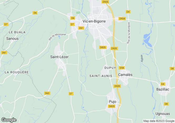 Map for Saint-Lezer, Midi-Pyrenees, 65500, France