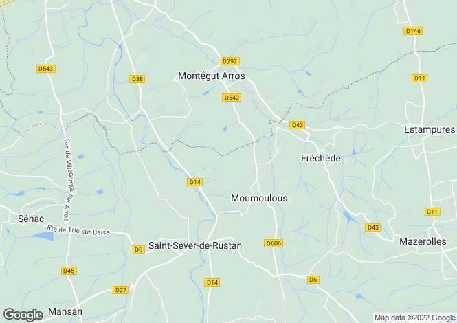 Map for moumoulous, Hautes-Pyrénées, France