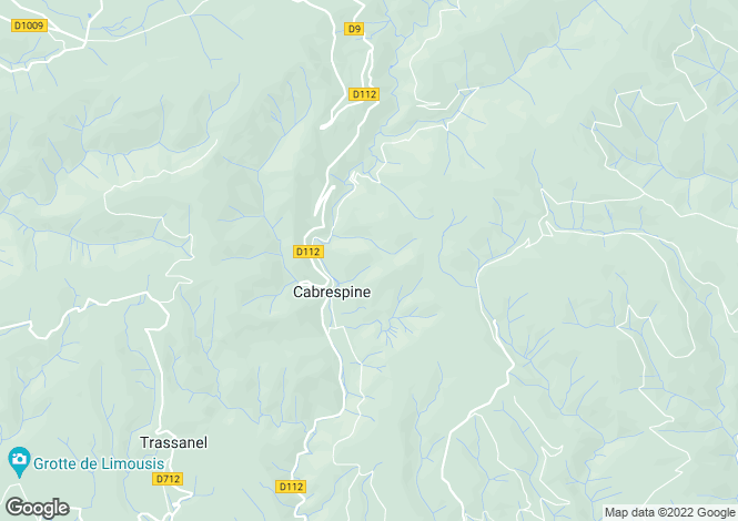 Map for cabrespine, Aude, France