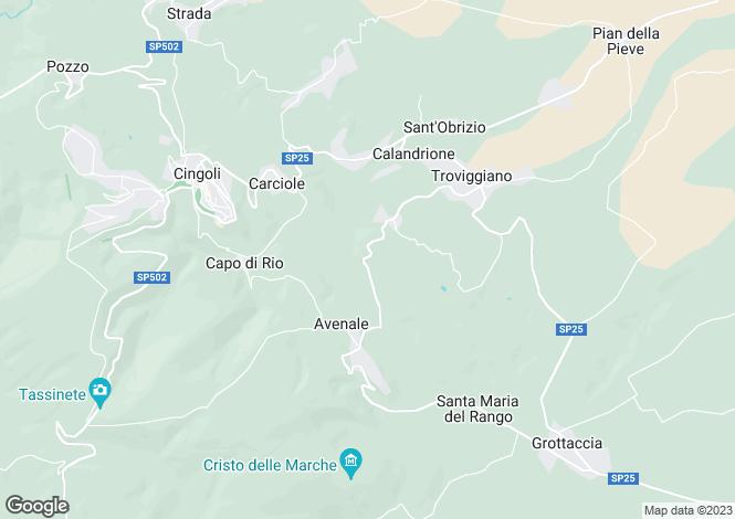 Map for Le Marche, Macerata, Cingoli