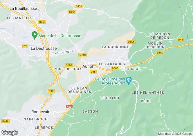 Map for auriol, Bouches-du-Rhône, France