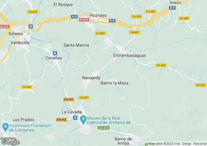 Map for Entrambasaguas, Santander, Cantabria