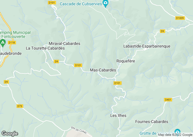 Map for Languedoc-Roussillon, Aude, Mas-Cabardès