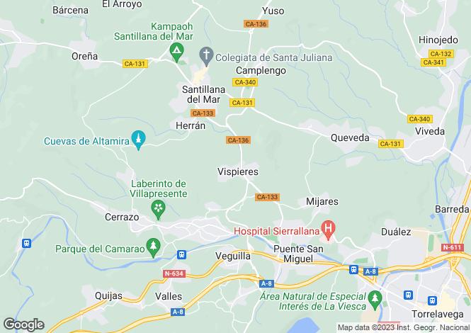 Map for Santillana, Santander, Cantabria