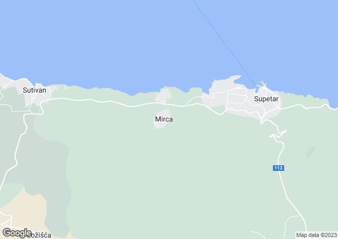 Map for Mirca, Brac Island, Split-Dalmatia