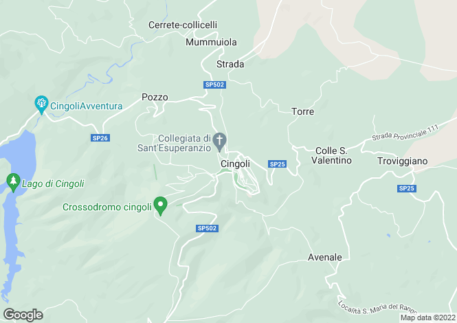 Map for Le Marche, Macerata, Cingoli