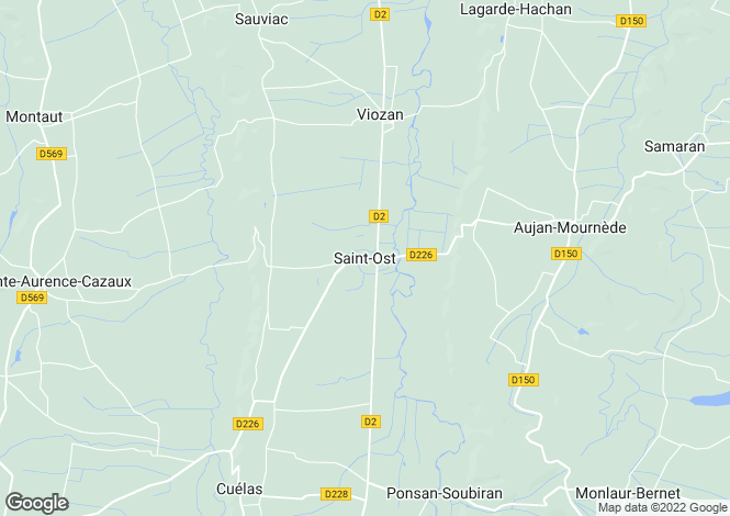 Map for Saint-Ost, Midi-Pyrenees, 32300, France