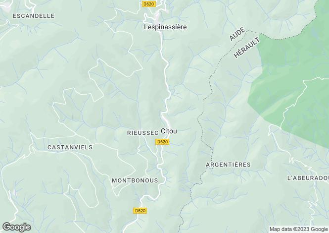Map for citou, Aude, France
