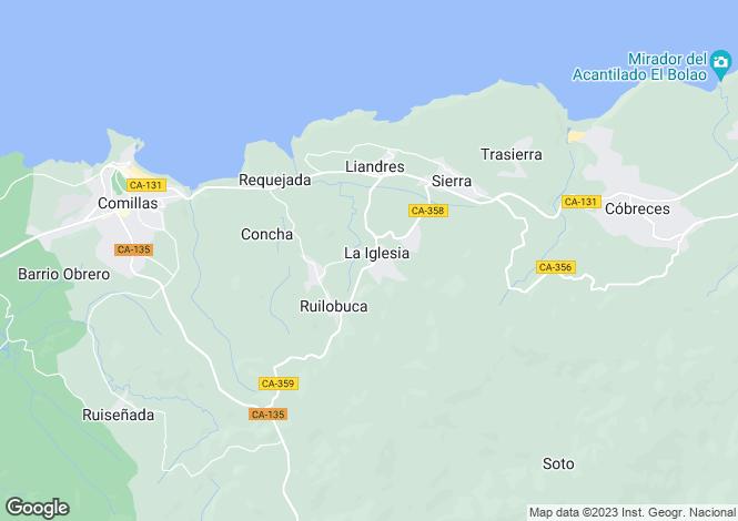 Map for Comillas, Santander, Cantabria