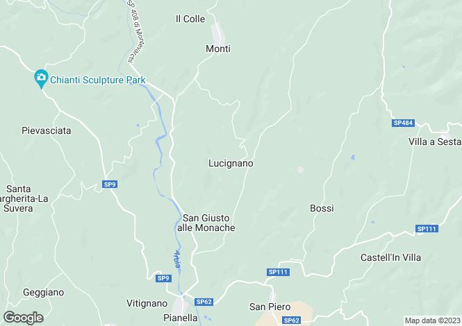 Map for Casa Volpaia, Radda In Chianti, Tuscany, Italy