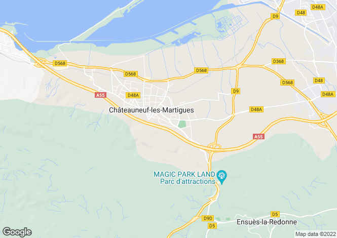 Map for CHATEAUNEUF LES MARTIGUES, Marseille Area, Provence - Var,