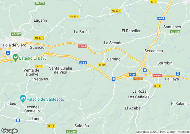 Map for Siero, Oviedo, Asturias