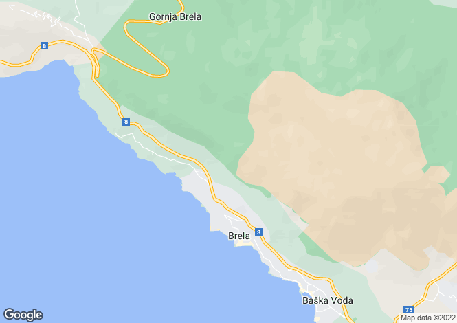 Map for Split-Dalmatia, Donja Brela