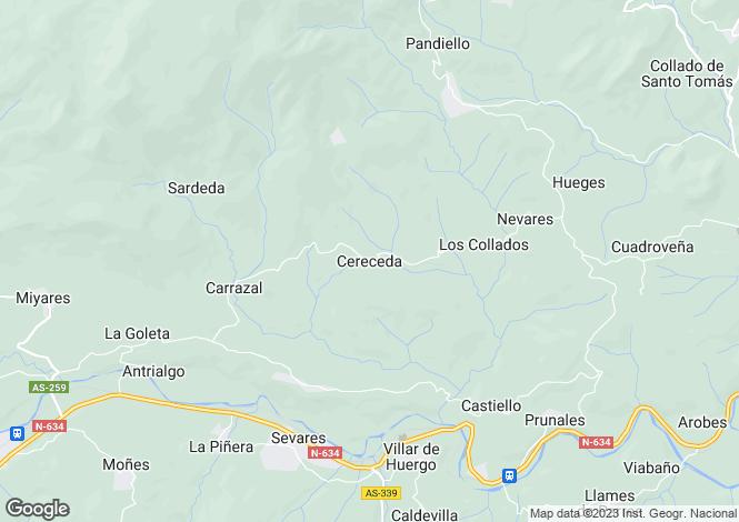 Map for Cereceda, Asturias, Spain