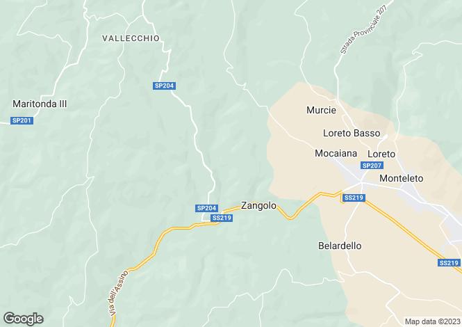 Map for Gubbio, Perugia, Umbria