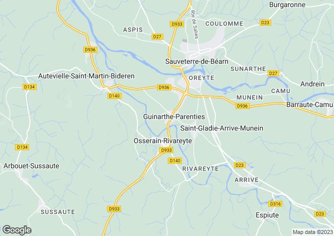 Map for OSSERAIN RIVAREYTE, 64390, France