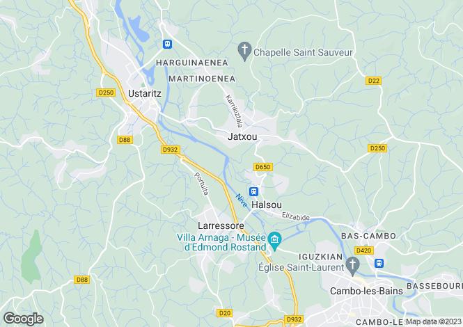 Map for jatxou, Pyrénées-Atlantiques, France