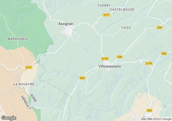 Map for Languedoc-Roussillon, Hérault, Villespassans