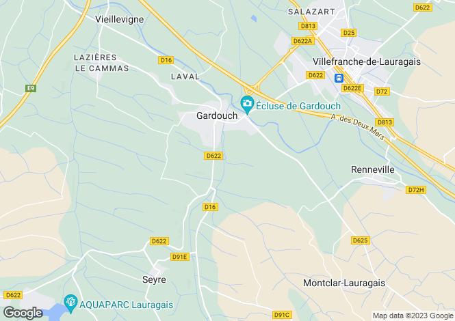 Map for gardouch, Haute-Garonne, France