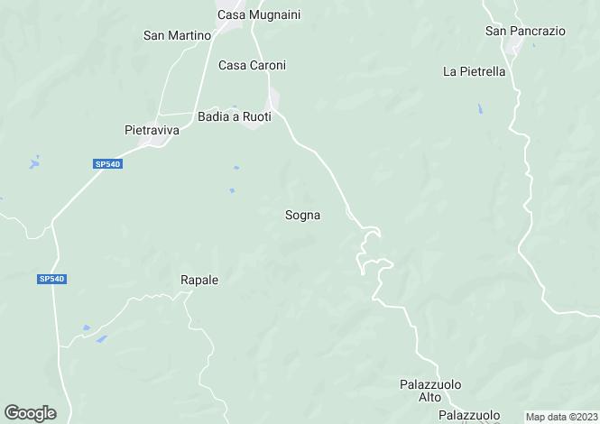 Map for Borgo Sogna, Ambra, Tuscany, Italy