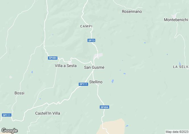 Map for Casa Fienile Arceno, Gaiole In Chianti, Tuscany, Italy