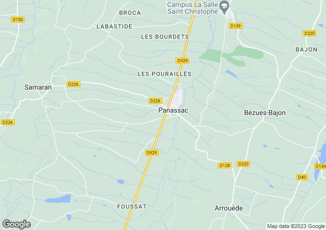 Map for Panassac, Midi-Pyrenees, 32140, France
