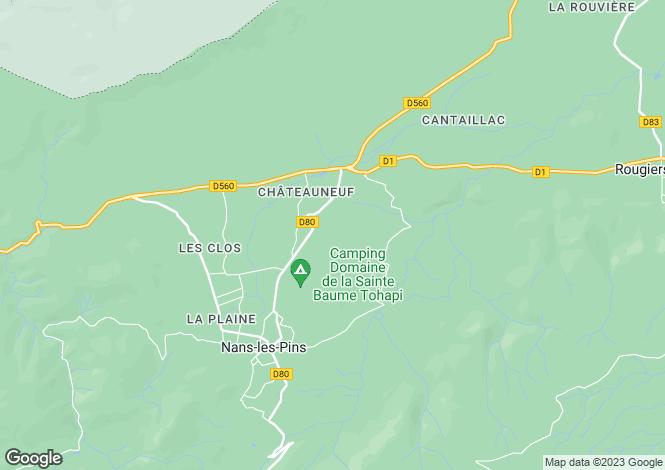 Map for Nans-les-Pins, Var, Provence-Alps-Cote d`Azur