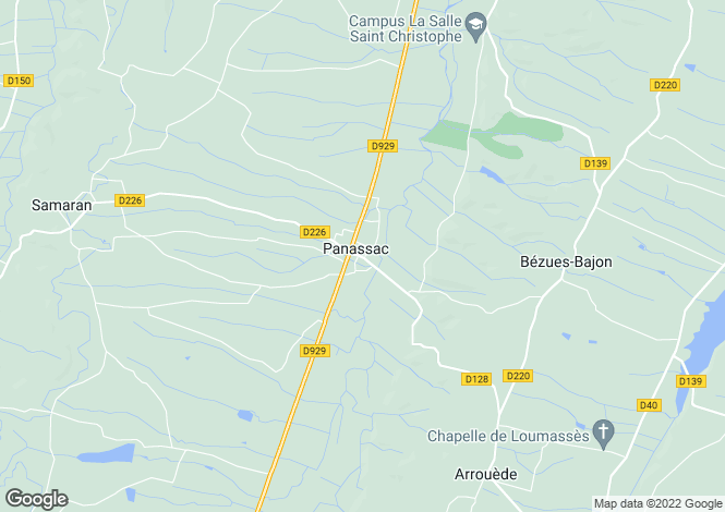 Map for Masseube, Gers, 32140, France