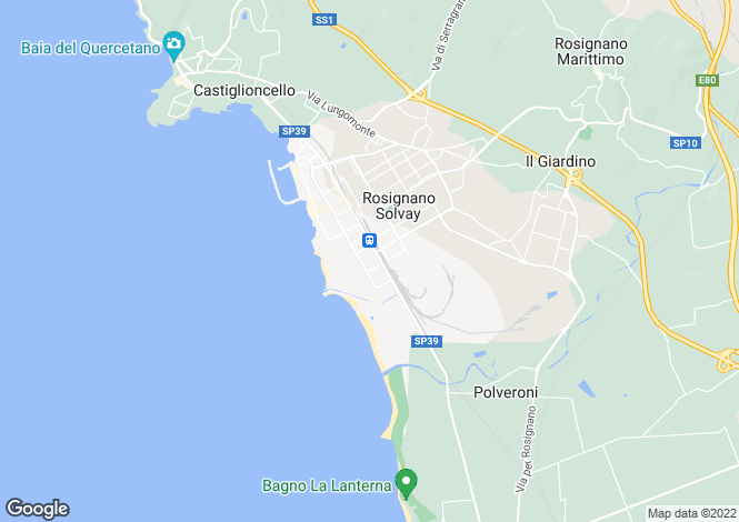 Map for Rosignano Marittimo, Livorno, Tuscany