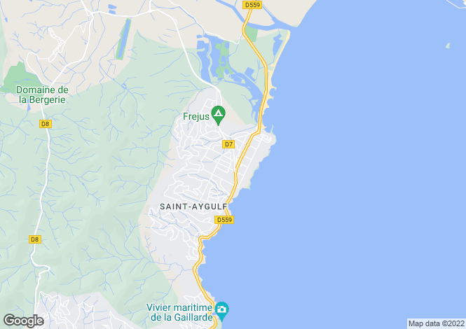 Map for Provence-Alps-Cote d`Azur, Var, St-Aygulf