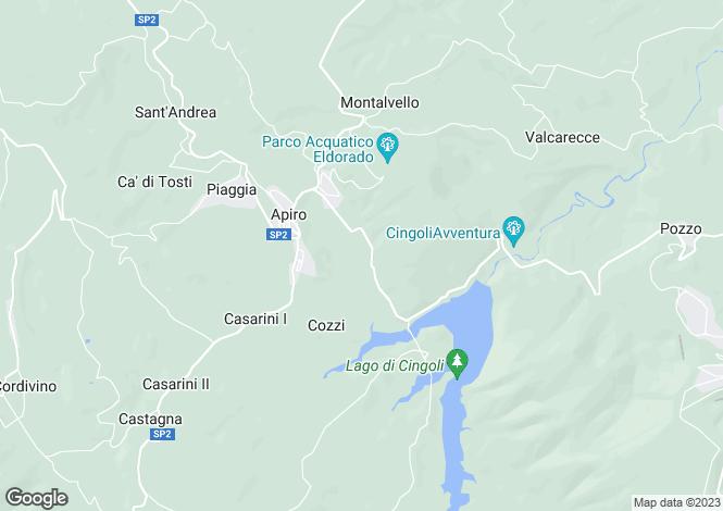 Map for Italy - Le Marche, Macerata, Apiro