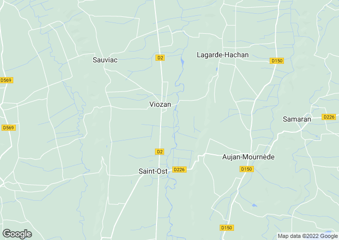 Map for Viozan, Gers, Midi-Pyrénées