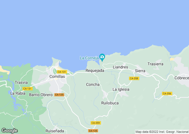 Map for Comillas, Santander, Cantabria