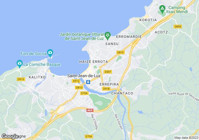 Map for St-Jean-de-Luz, Pyrénées-Atlantiques, Aquitaine