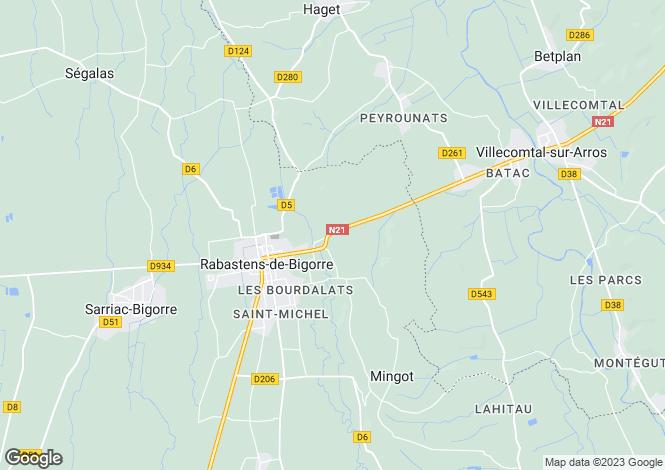 Map for Rabastens-de-Bigorre, Hautes-Pyrénées, Midi-Pyrénées