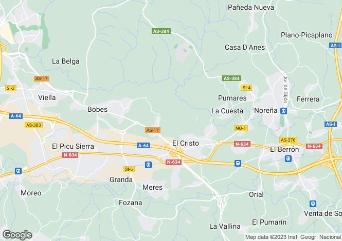 Map for Asturias, Oviedo, Siero