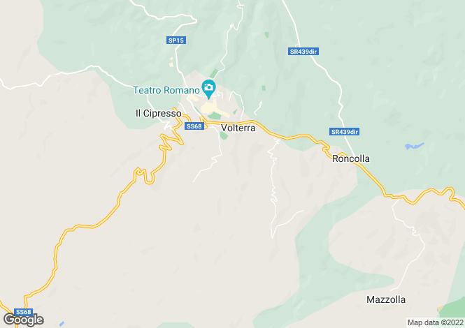 Map for Volterra, Pisa, Tuscany