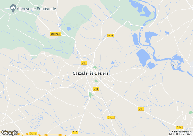 Map for cazouls-les-beziers, Hérault, France