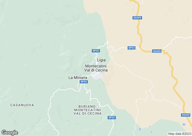 Map for Montecatini Val di Cecina, Pisa, Tuscany