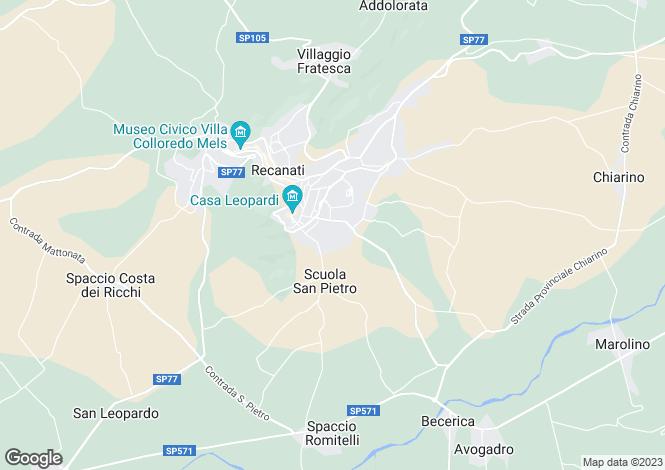 Map for Le Marche, Macerata, Recanati