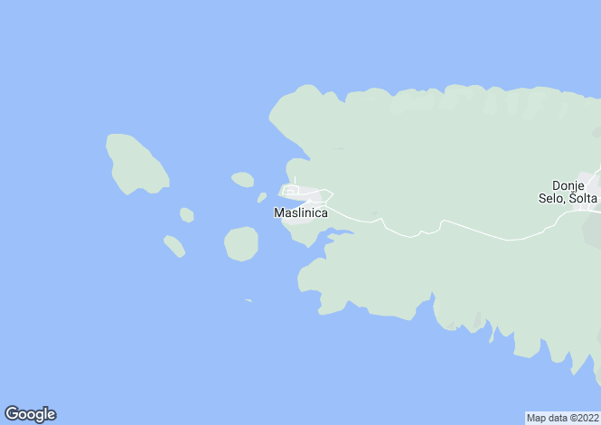 Map for Maslinica, Island Of Solta, Croatia