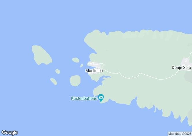 Map for Solta Island, Split-Dalmatia