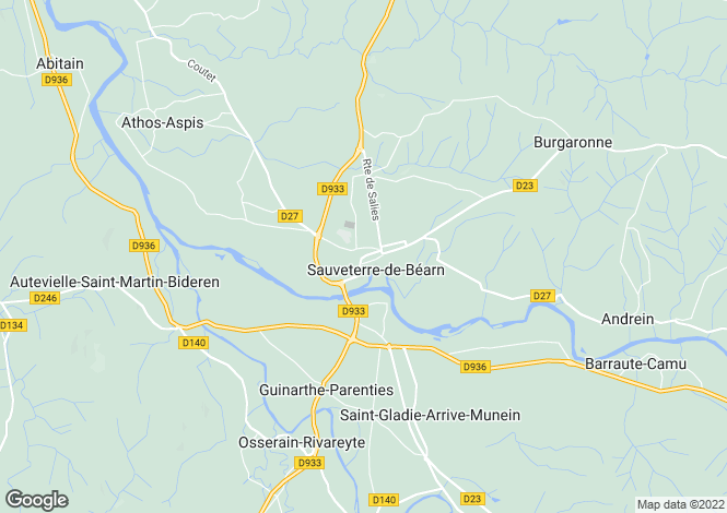 Map for Near Sauveterre de Bearn, Pyrenees Atlantiques, Aquitaine