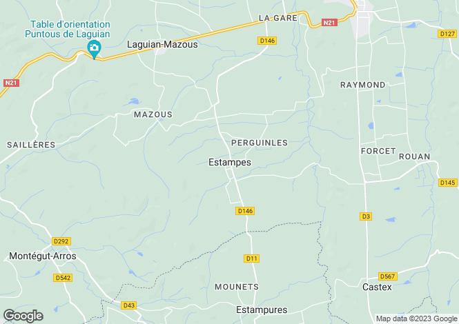 Map for Estampes, Midi-Pyrenees, 32170, France