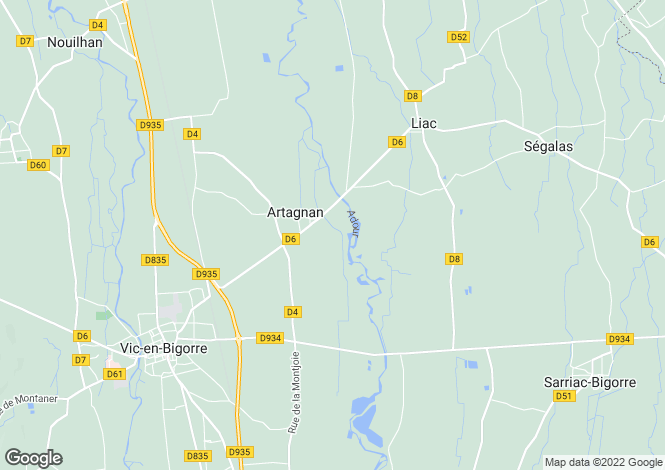 Map for artagnan, Hautes-Pyrénées, France